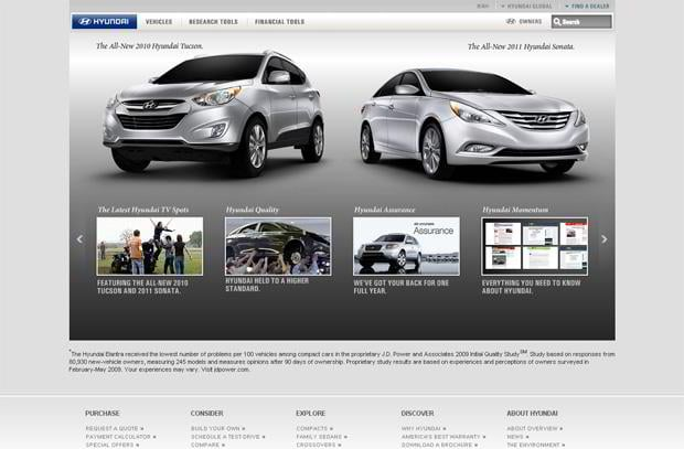car web design - Hyundai