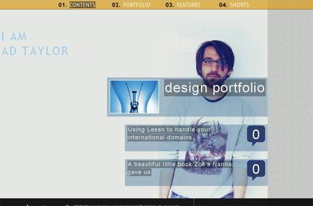 portfolio wordpress design - Iamadtaylor.com