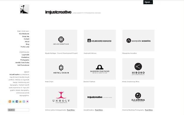 wordpress portfolio theme - Imjustcreative.com