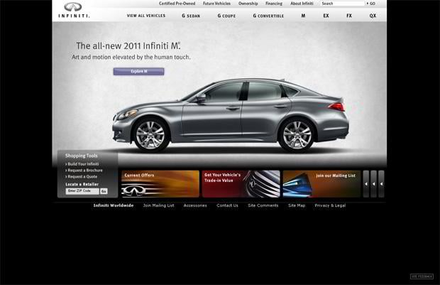 car website design - Infiniti
