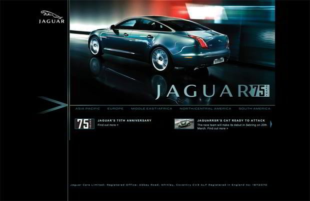 car web design - Jaguar