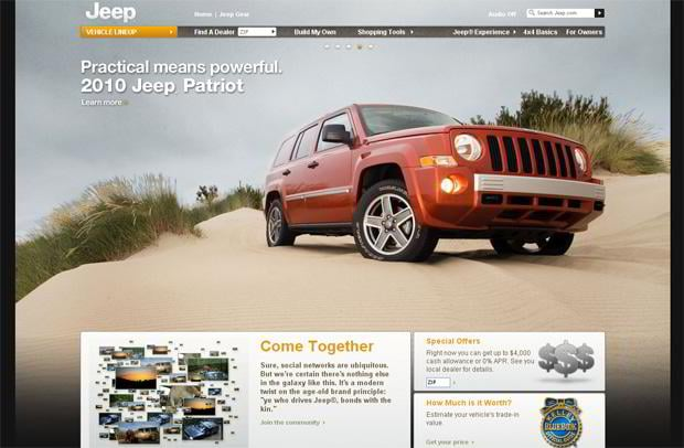 car web design theme - Jeep