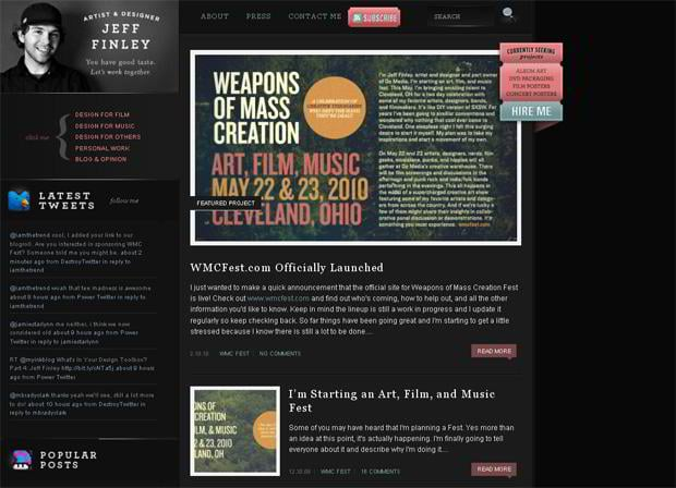 portfolio website wordpress theme - Jefffinley.org