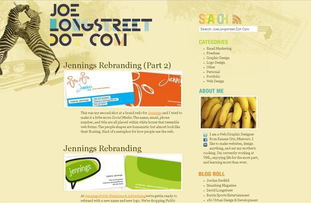 wordpress portfolio design - Joelongstreet.com