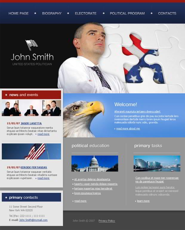 Flag graphic in web templates - John Smith