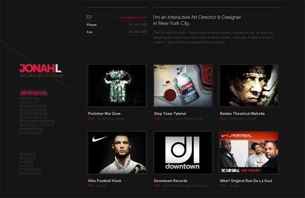 wordpress portfolio design - Jonahl.com