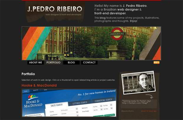 wordpress portfolio website design - Jpedroribeiro.com