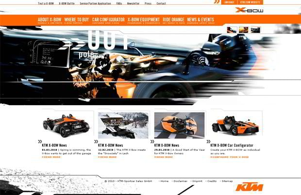 car web design - KTM X-BOW
