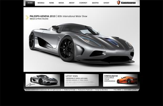 car website - Koenigsegg