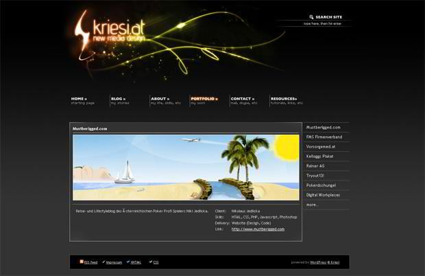 wordpress portfolio web design - Kriesi.at