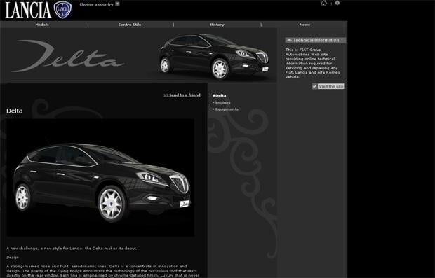 car web design - Lancia