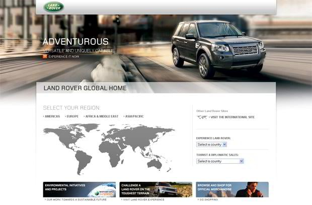 car web design - Land Rover