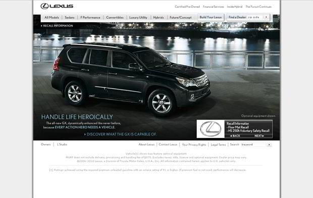 car web design - Lexus