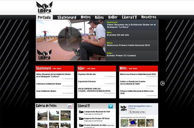 video blog design wordpress - Liberamagazine.com