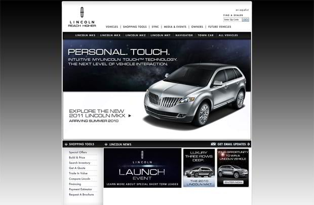 car website - Lincoln