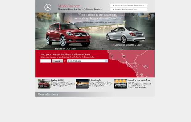 car web design theme - MBsocal