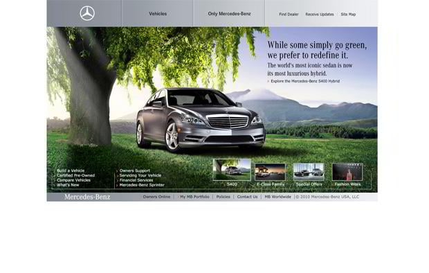 car website design - MBusa
