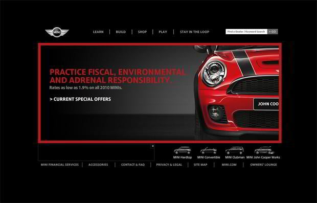 car webpage design - MINI