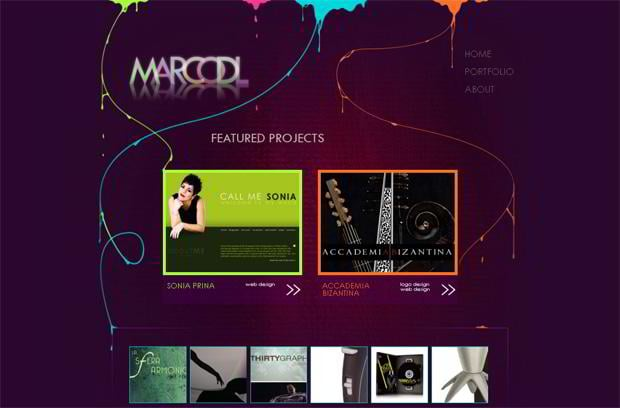 portfolio wordpress website - Marcodeliso.it