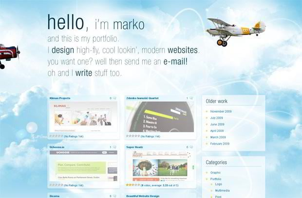 portfolio wordpress theme - Markoprljic.iz.hr