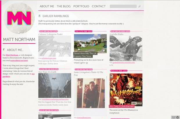 wordpress portfolio theme - Mattnortham.com