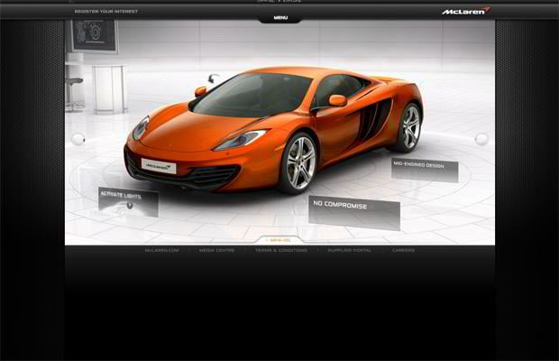 car website - Mclarenautomotive