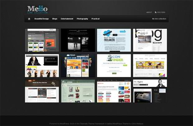 portfolio website wordpress theme - Meiio.se