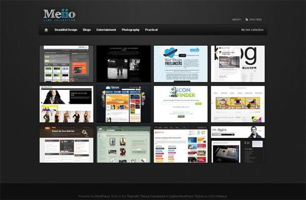 portfolio website wordpress theme - Meiio.se