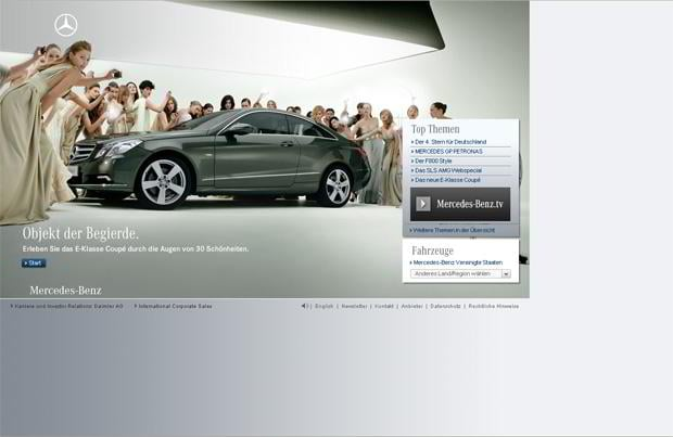 car web design - Mercedes-Benz