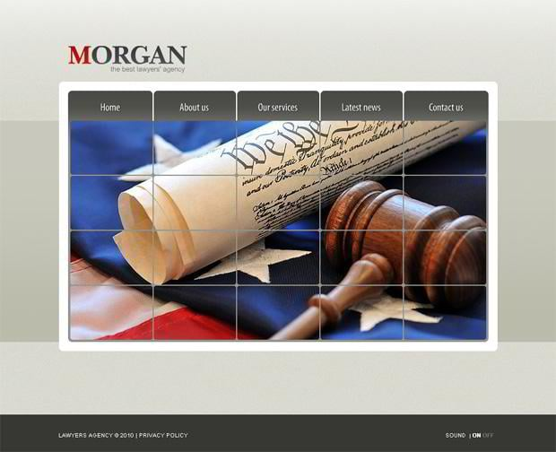 Web templates with flags pictures - Morgan