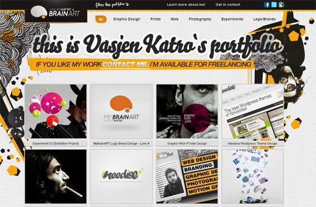 wordpress portfolio design - Mybrainart.com
