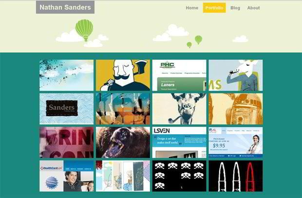 portfolio wordpress design - Nathan-sanders.com