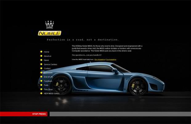car website design - Noble