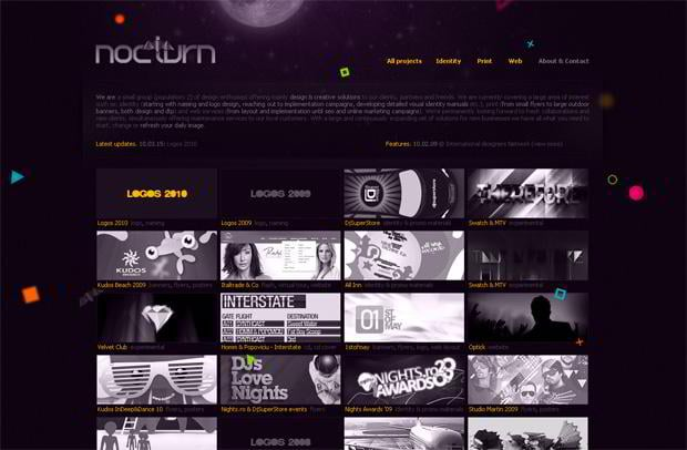 portfolio wordpress theme - Nocturn.ro