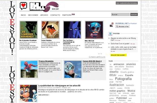 portfolio wordpress theme - Oldskull.net