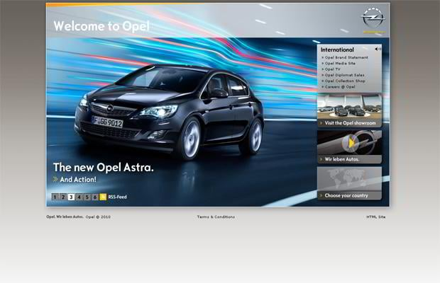 car web design - Opel