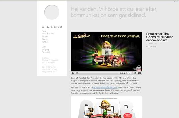video blog wordpress design - Ordbild.se