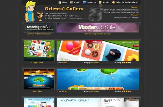 portfolio wordpress theme - Oriental-gallery.com