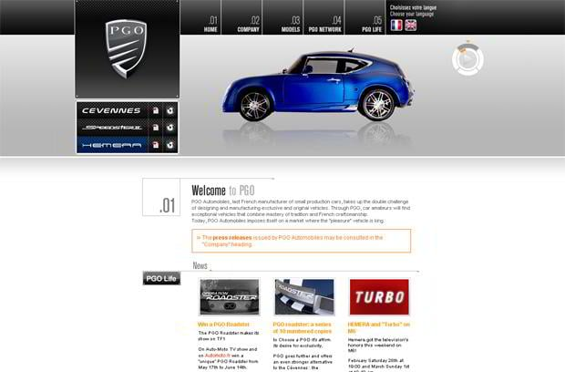 car website - PGO