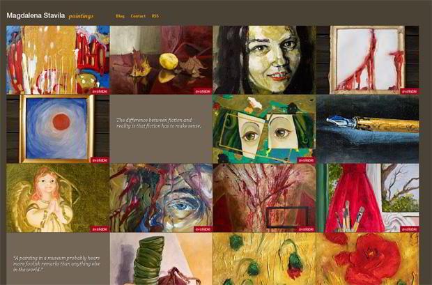 portfolio wordpress theme - Paintings.magdalenastavila.ro