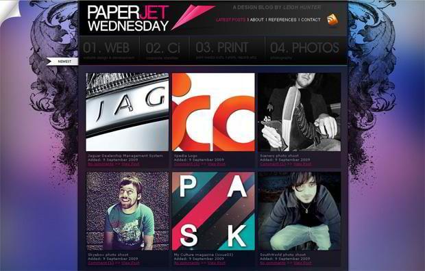 wordpress portfolio theme - Paperjetwednesday.com