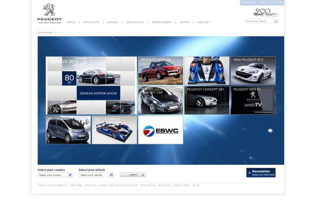 car web theme - Peugeot