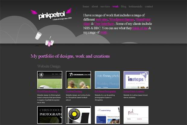portfolio wordpress theme - Pinkpetrol.com