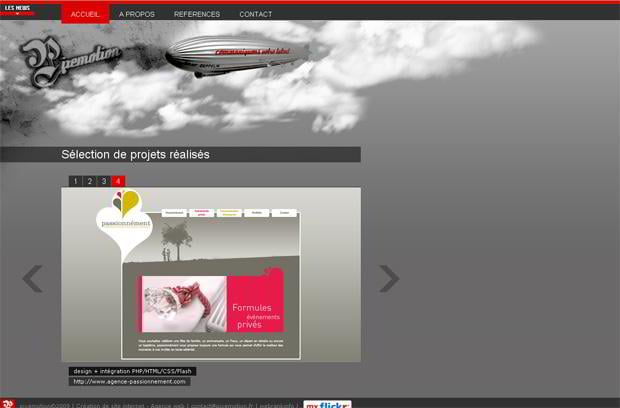 portfolio website wordpress theme - Pixemotion.fr