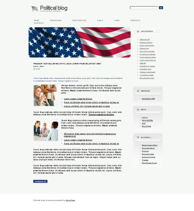 Web templates with flags pictures - Political Life Blog