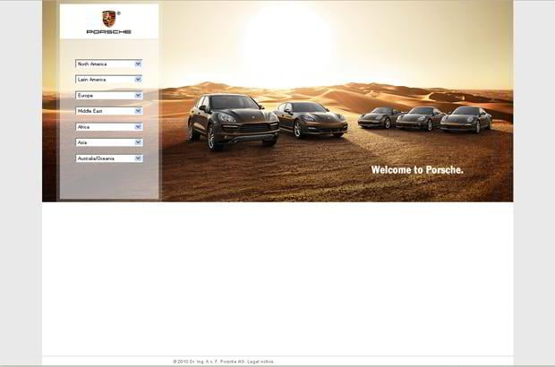 car web design theme - Porsche