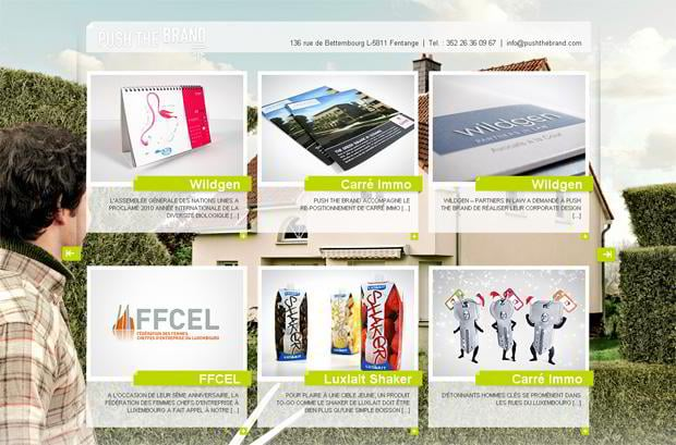 wordpress portfolio web design - Pushthebrand.com