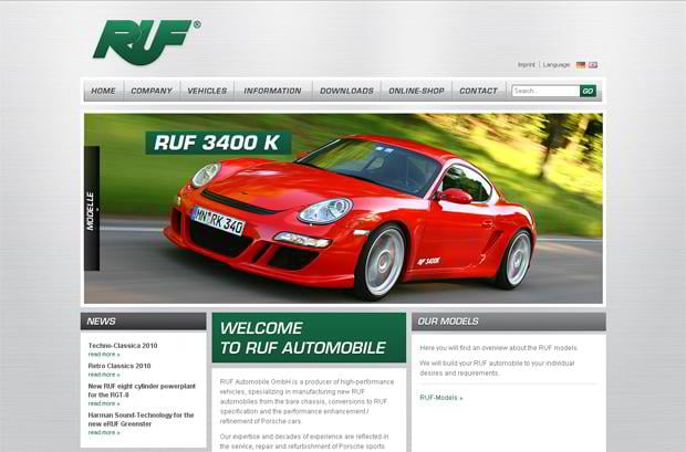 car web design theme - RUF-automobile
