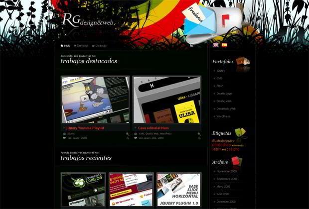 wordpress portfolio web design - Rgdesign.org