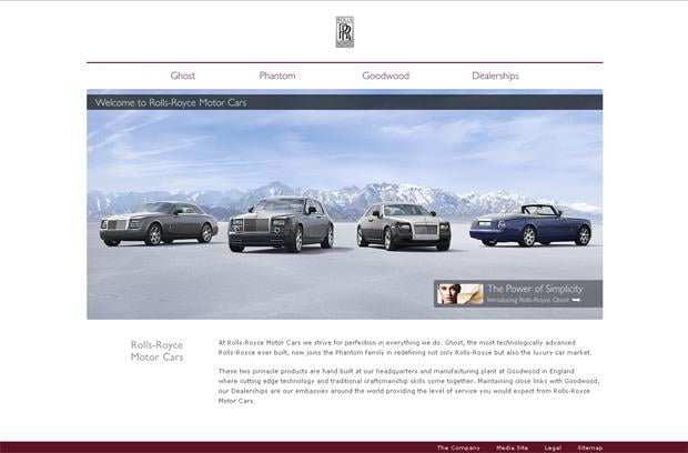 car web design - Rolls-Royce